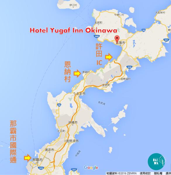 Hotel Yugaf Inn地理位置.png